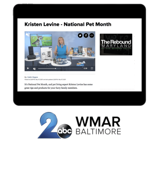 Pet Living Expert Kristen Levine talks about innovative pet products during National Pet Month